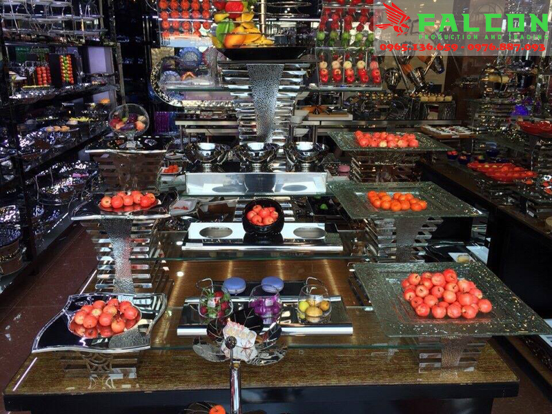 Đồ dùng sử dụng trong nhà hàng, tiệc buffet cao cấp