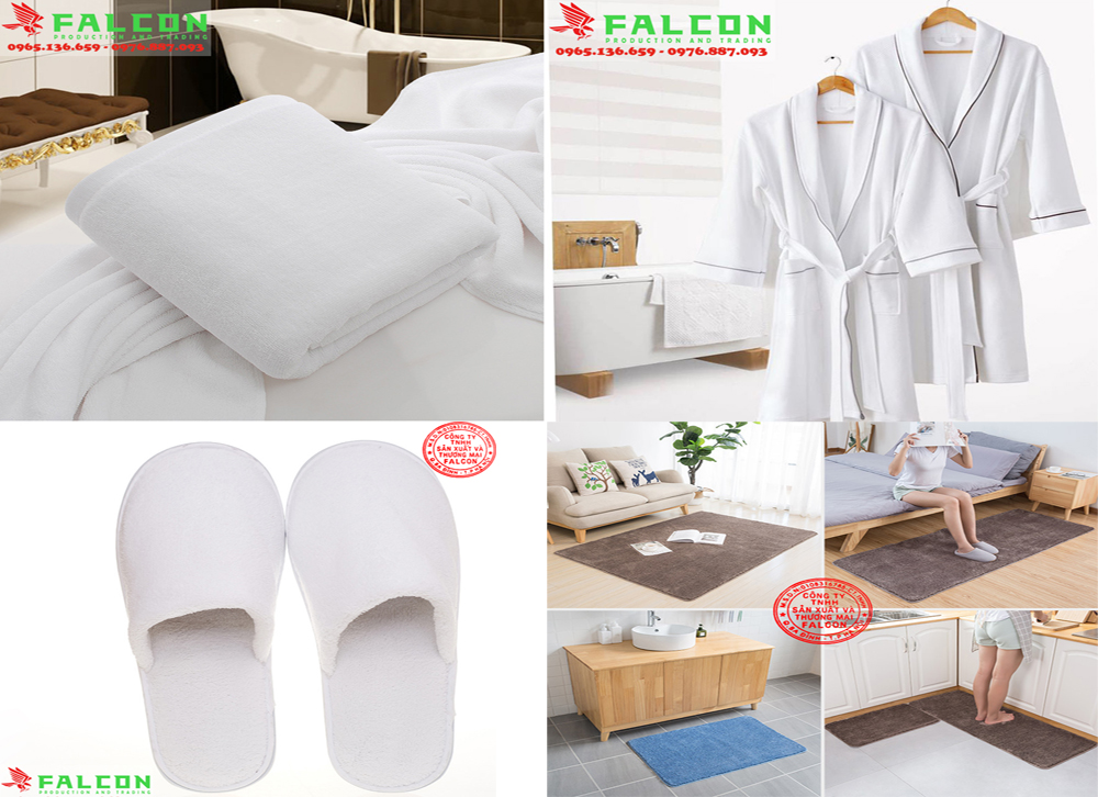 Khăn tắm trắng và nội thất vải khách sạn