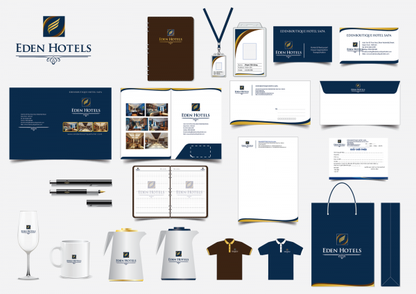Thiết kế in ấn bộ thương hiệu đồ dùng khách sạn